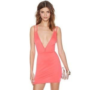 "Nasty Gal ""Deep Trouble"" Dress - Coral Medium"
